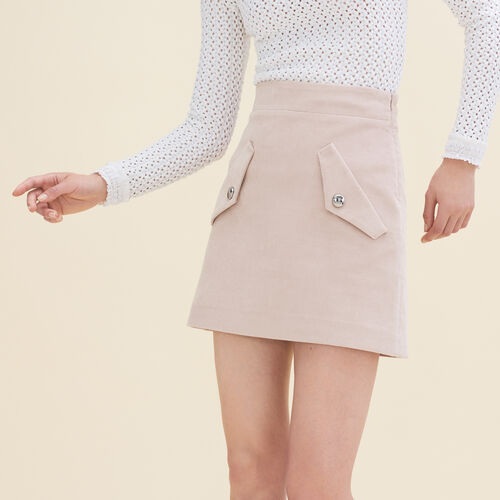 Short velvet skirt : Skirts & Shorts color Pink