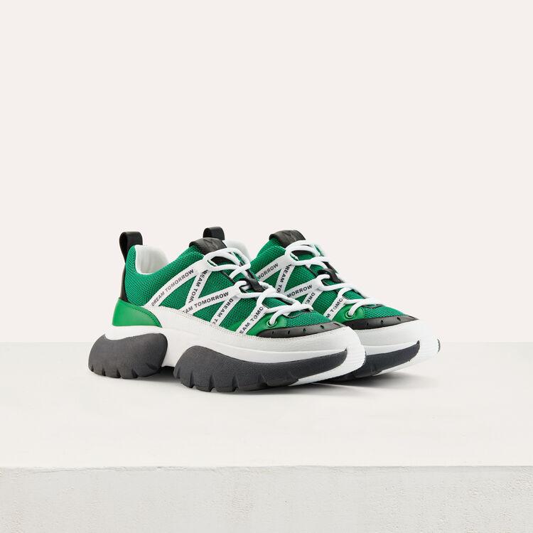 W20 Urban sneakers in nylon : Sneakers color Green