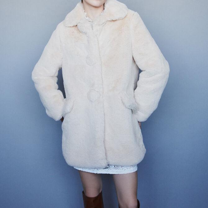 Manteau en fausse fourrure -  - MAJE