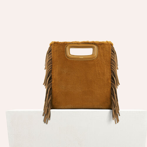 Faux fur M bag : See all color Caramel