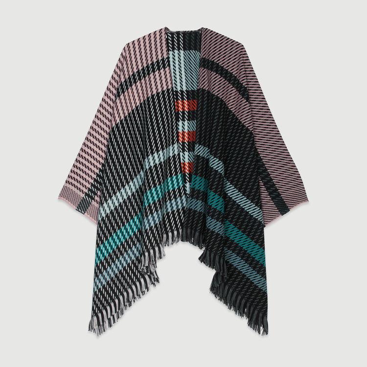 Poncho in stripes : Shawls & Ponchos color Multico