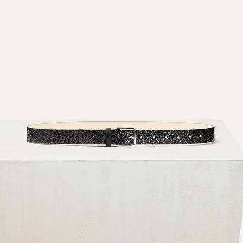 Sequinned belt : Belts color Black 210