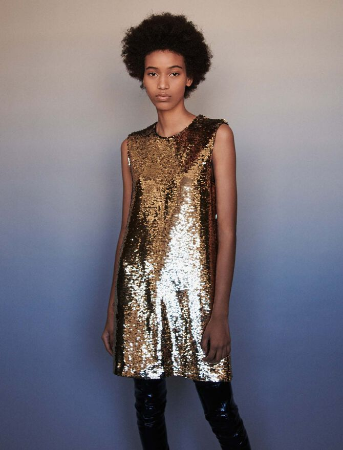 Sequin pencil dress - SoldesBE_Robes - MAJE