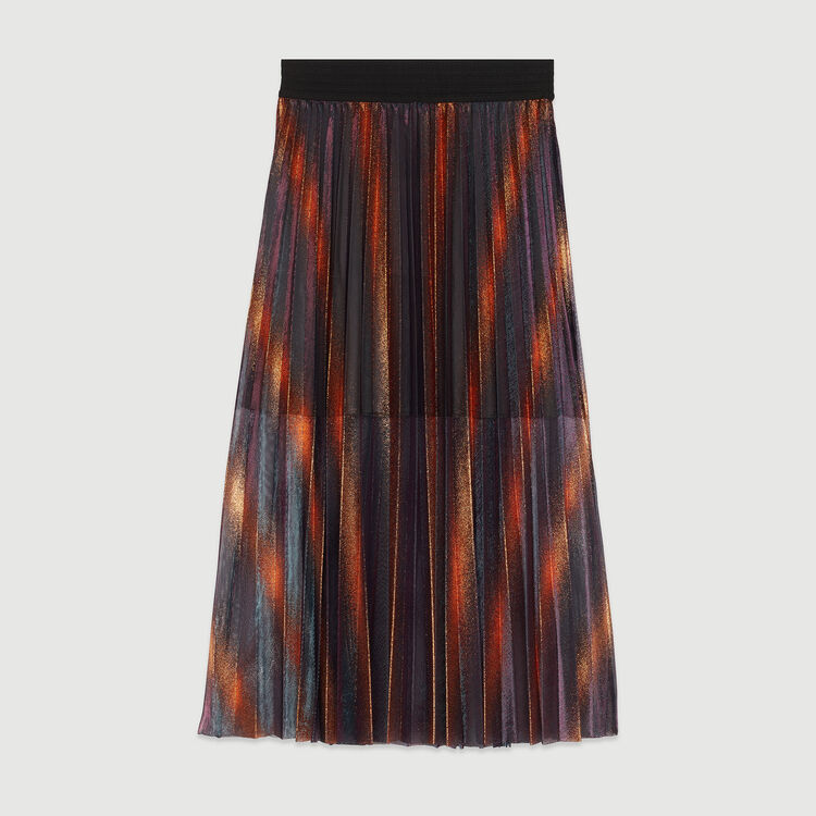 6398aafec JAJA Pleated and iridescent long skirt - Skirts & Shorts - Maje.com