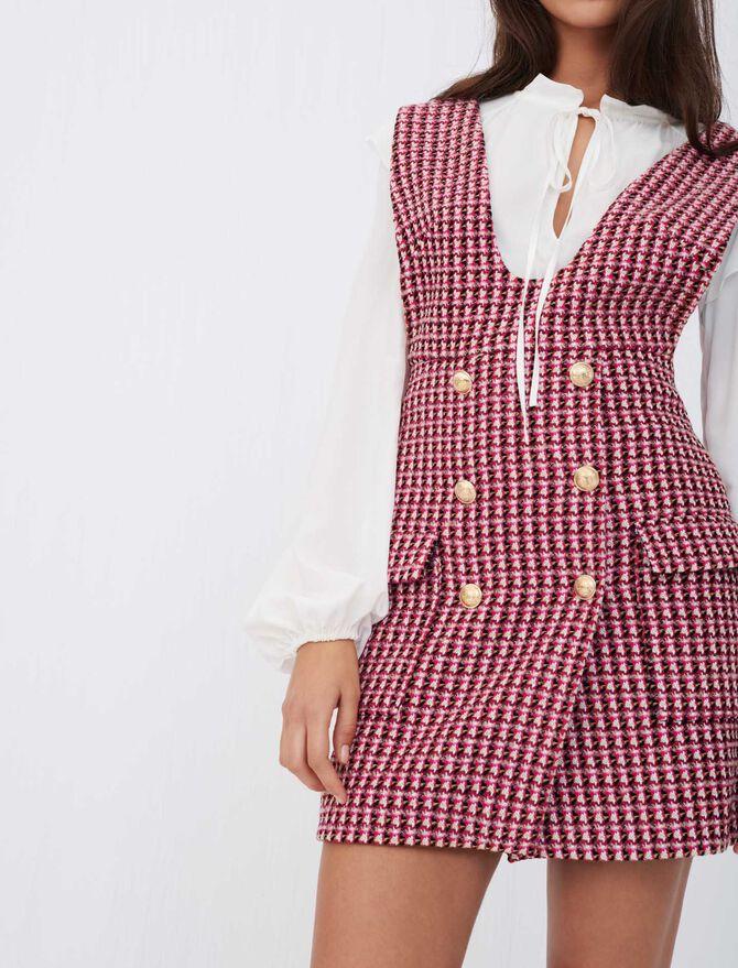 Trompe-l'œil tweed dress - Dresses - MAJE