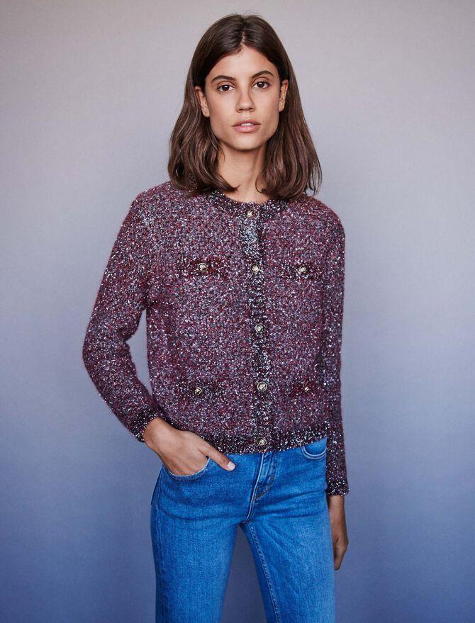 Fancy Lurex knit cardigan - Knitwear - MAJE