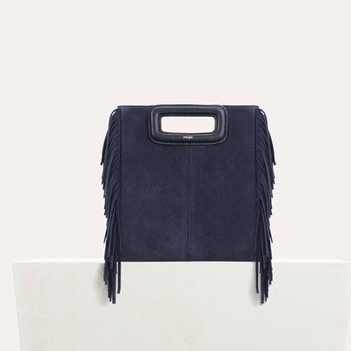 M bag with suede fringes : null color Black 210