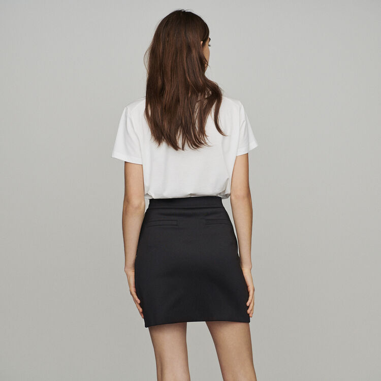 359518a4 Short skirt with slogan band