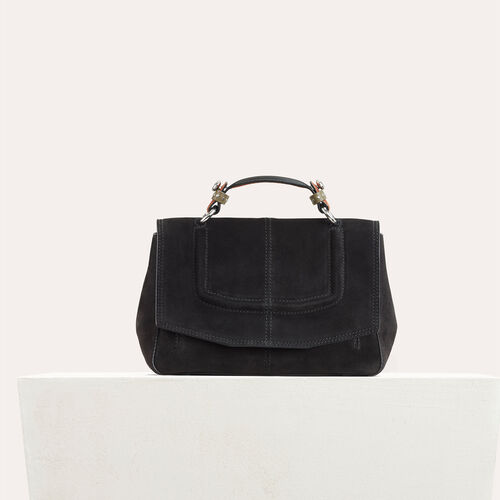 Mini satchel in two-tone suede : See all color Black 210