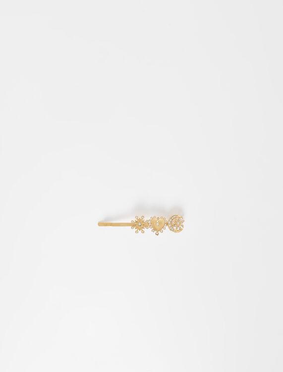 Barrette dorée à charms - Accessoires_Bijoux - MAJE