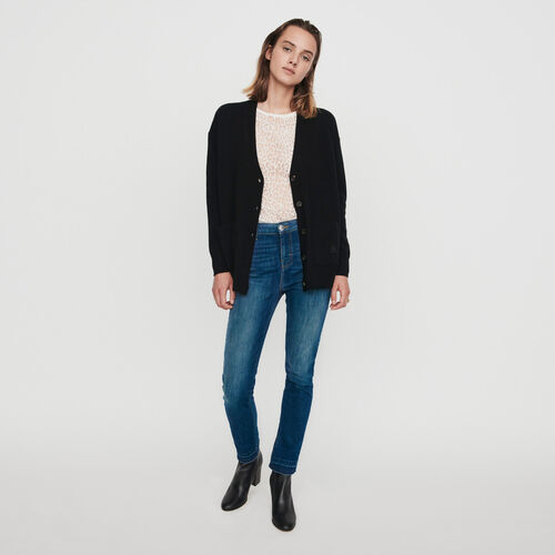 Cashmere cardigan : Pullovers & Cardigans color Black