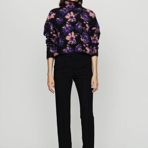 Straight suit pants : Trousers color Black 210