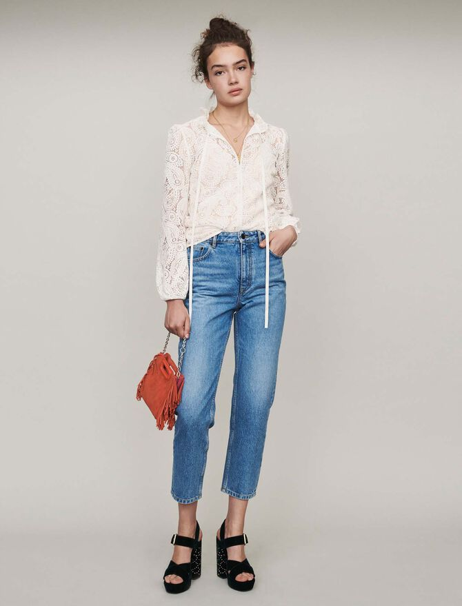 High-waisted jeans - Trousers & Jeans - MAJE