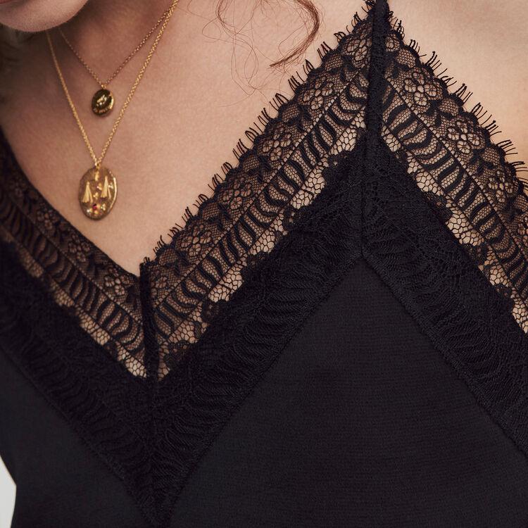 Satin jumpsuit : Winter collection color Black