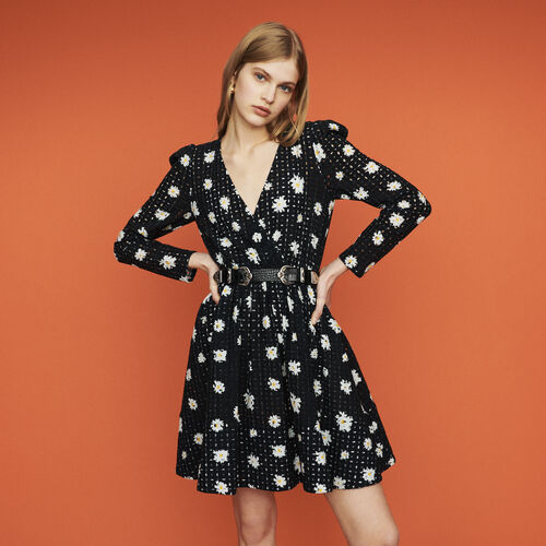 Dress in daisy guipure : New in : Summer Collection color PRINTED
