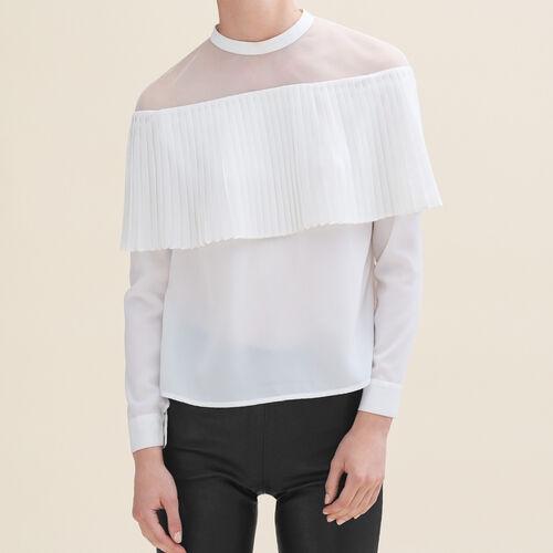 Off-the-shoulder top : Tops color Ecru