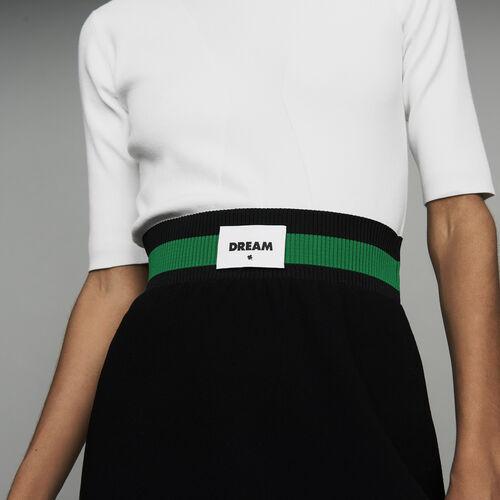 Short crepe skirt : Skirts & Shorts color Black 210