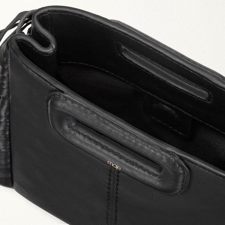 Mini leather M bag with chain : M Mini color Black