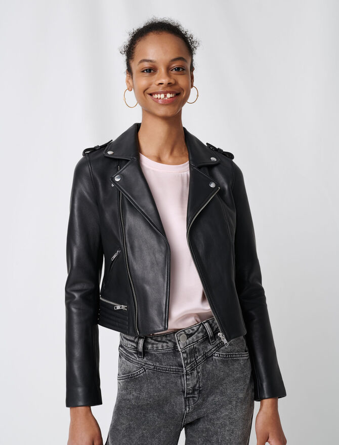 Leather biker jacket - Eco-friendly - MAJE