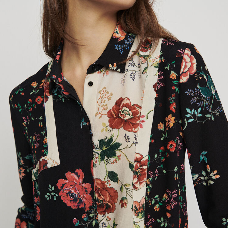 Patchwork print shirt : Shirts color PRINTED