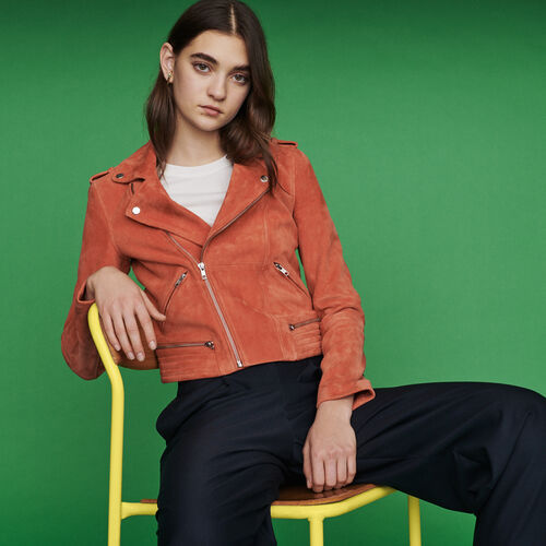 Suede jacket : Jackets color Coral