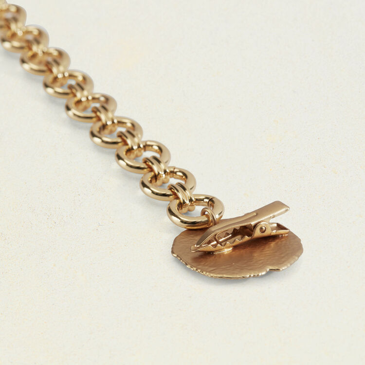 Chain belt with hammered medallions : Belts color GOLD