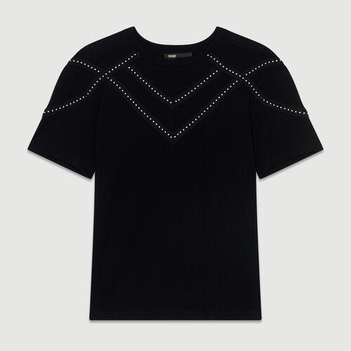 Studded Tshirt : SoldesUK-All color Black 210