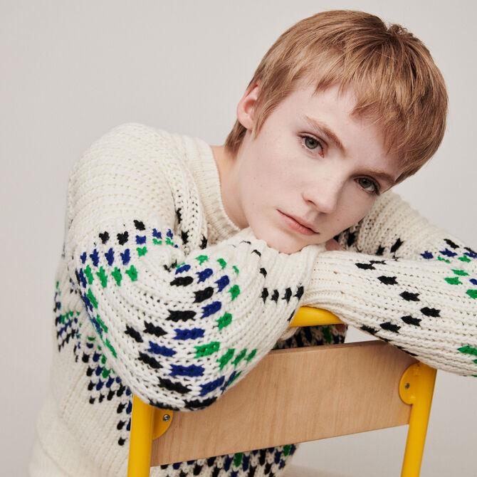Sweater with fancy motifs - staff private sale 20 - MAJE