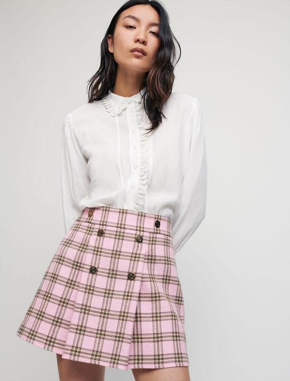 Jupe à plis à carreaux - Pap_Jupes-Shorts - MAJE