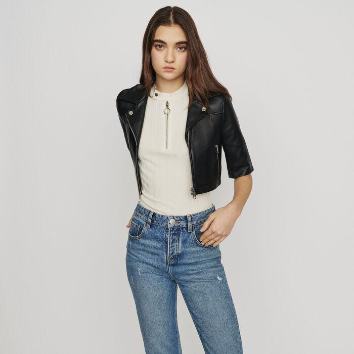 Leather jacket : Jackets color Black 210