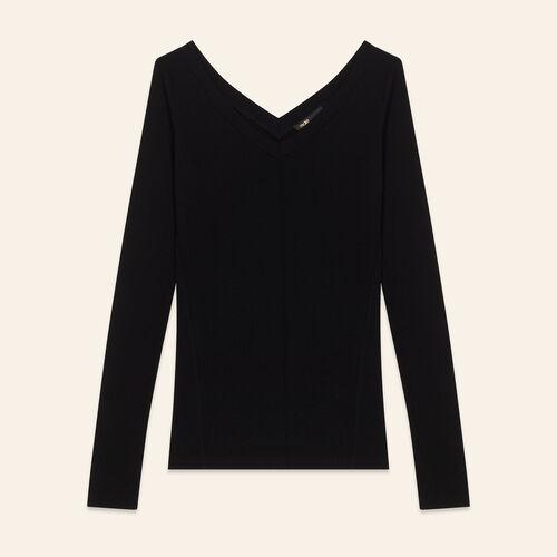 Tee-shirt en jersey : Knitwear color Black 210