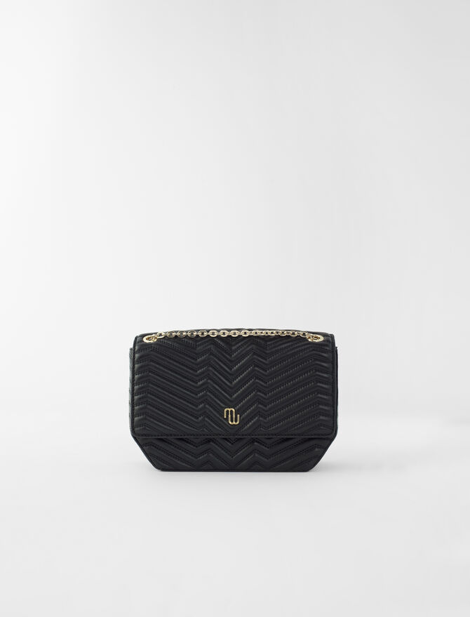 Quilted leather flap bag - Shoulder bags - MAJE