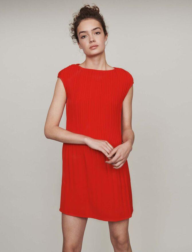 Sleeveless pleated dress - Dresses - MAJE