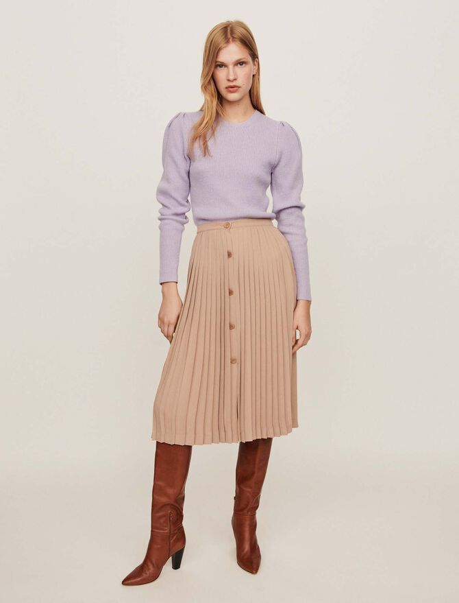 Pleated skirt with buttons - SoldesBE_50 - MAJE