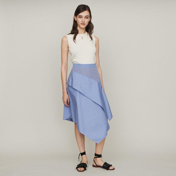 Jupe en coton à rayures : Pap_Jupes-Shorts couleur Rayure