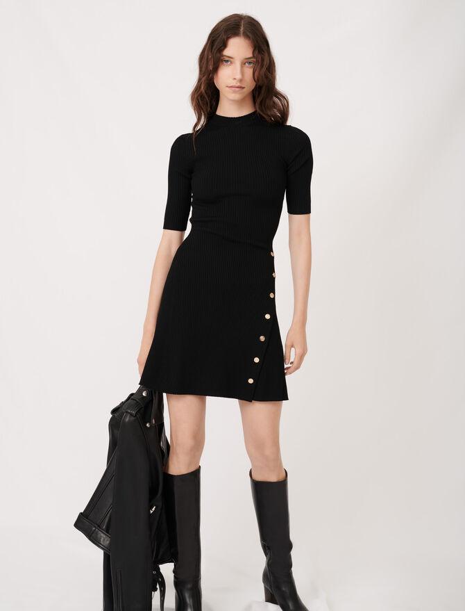 Stretch knit figure-hugging dress - Dresses - MAJE