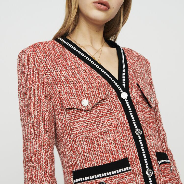 Tweed-style jacket : Blazers color Red
