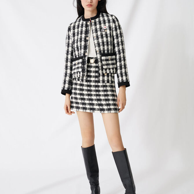 Tweed-style cropped jacket -  - MAJE