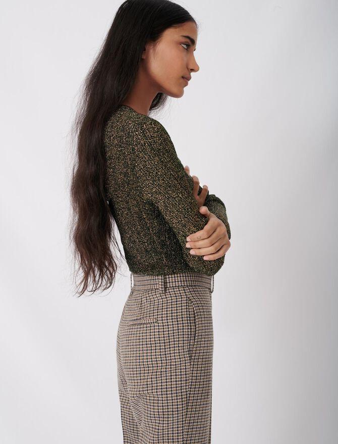 Low-cut lurex knit sweater - -30% - MAJE