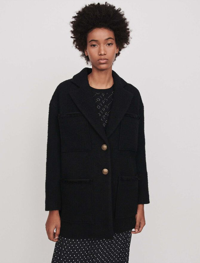 Tweed-style coat -  - MAJE