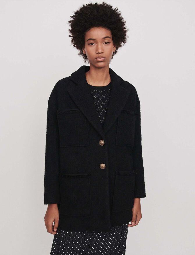 Manteau façon tweed -  - MAJE