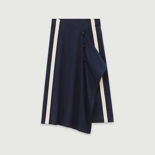 Jupe à rayures tennis : Pap_Jupes-Shorts couleur MARINE