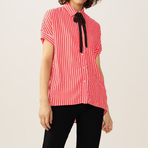 Striped shirt with ascot tie : Shirts color Stripe