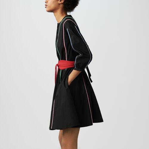 Belted dress : Dresses color Black 210