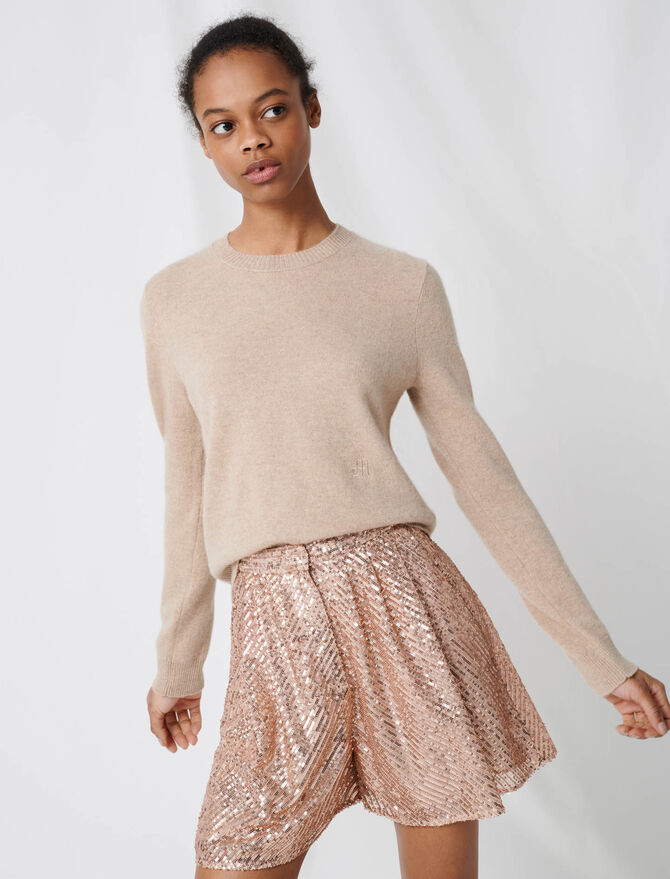Pull col rond en cachemire - Pap_Pulls-Cardigans - MAJE