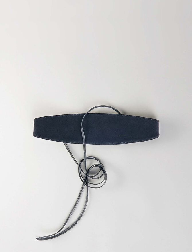 High-waisted suede belt -  - MAJE