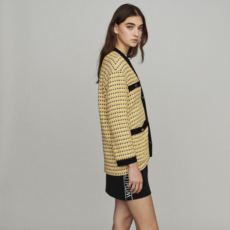 Veste en tweed et lurex : Pap_Vestes couleur Jaune