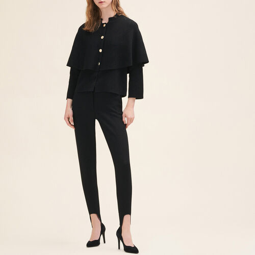 Short cape-style cardigan : Sweaters & Cardigans color Black 210