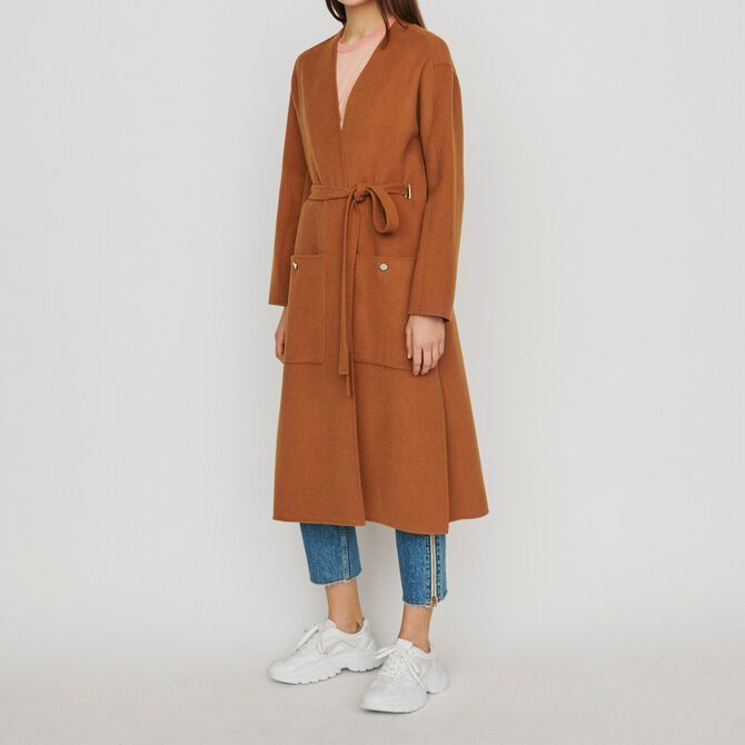 Long double-face wool coat - See all - MAJE