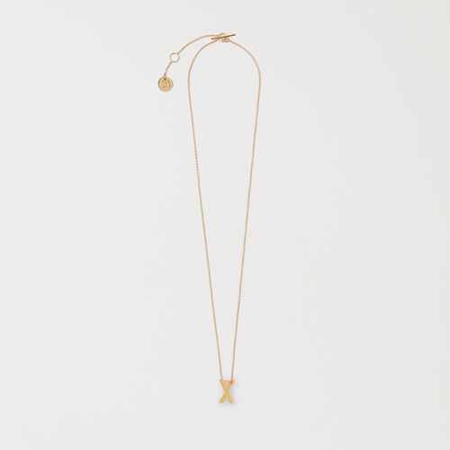 Necklace with initial pendant : Accessories color GOLD